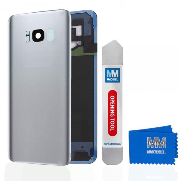 Akkudeckel mit Linse für Samsung Galaxy S8 Plus G955 (SILBER) Backcover