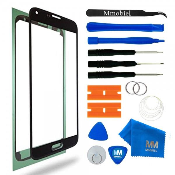 Front Glas Reparatur Set für Samsung Galaxy S5/S5 Neo (SCHWARZ) Display+Werkzeug