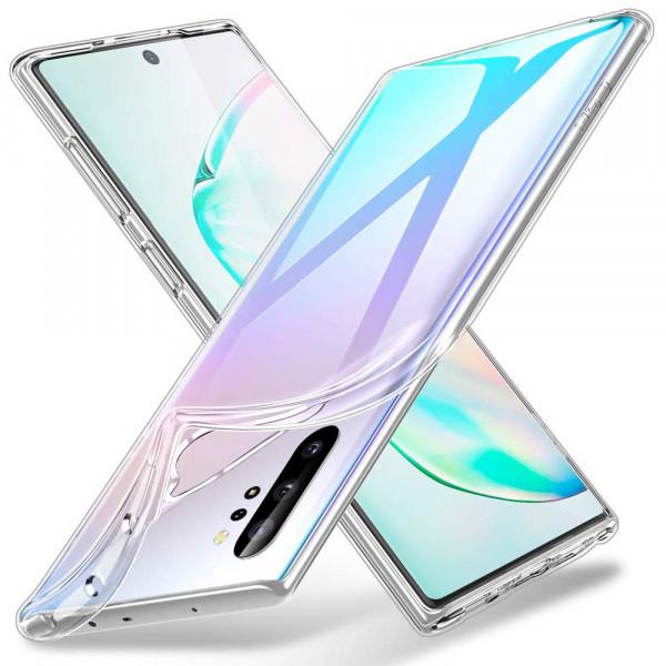 TPU Silikonhülle + Displayschutzfolie Glas für Samsung Galaxy Note 10 Plus