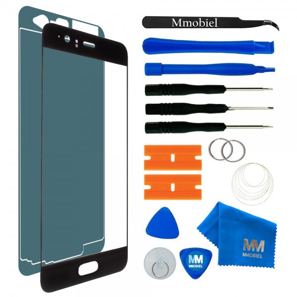 Front Glass for Huawei P10 (Black) Touchscreen Display incl. Toolkit