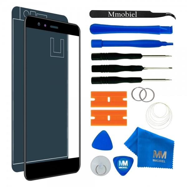 MMOBIEL Front Glas Display Scherm voor Huawei P10 Lite (ZWART) - inclusief Tools