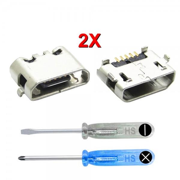 2X Dock Connector für Huawei P8 Lite 2016 Ladebuchse Ladeport + Werkzeug