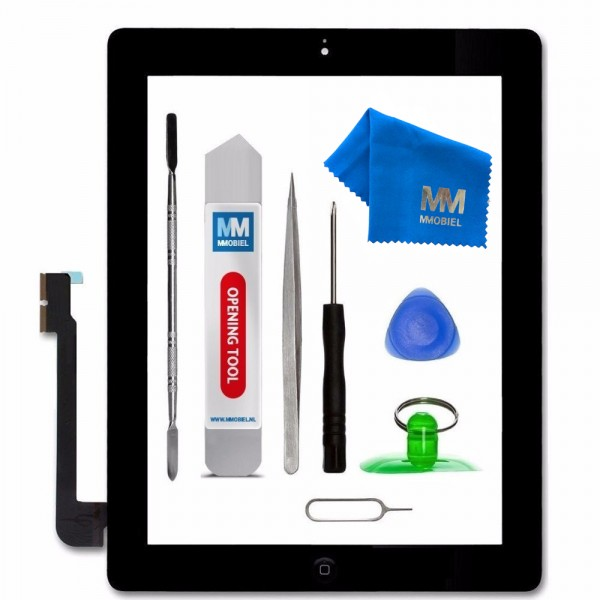 Digitizer for iPad 3 (Black) Touchscreen Front Display incl. Toolkit