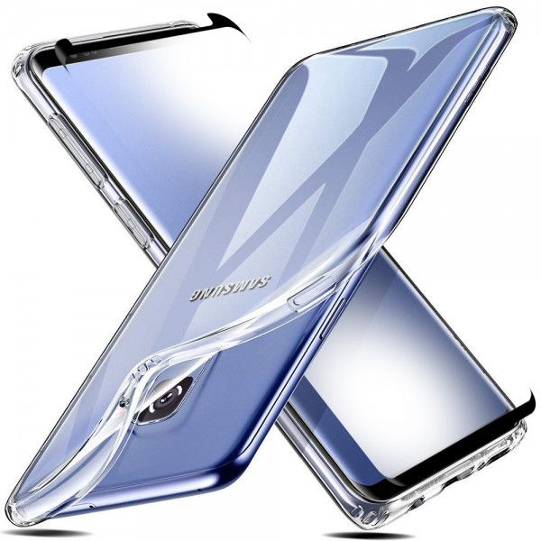 TPU Silikonhülle + Displayschutzfolie gehärtetem Glas für Samsung S9 Panzer