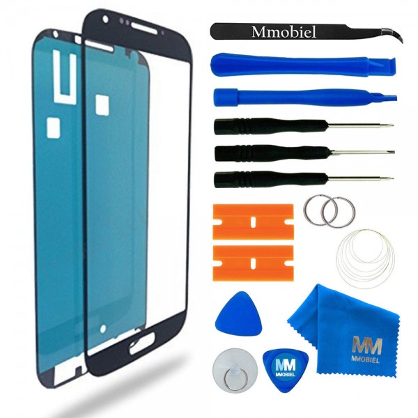 Front Glass for Samsung Galaxy S4 (Black) Display Touchscreen incl. Toolkit