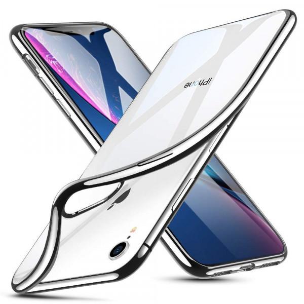 TPU Silikonhülle + Displayschutzfolie gehärtetem Glas für iPhone XR Panzer