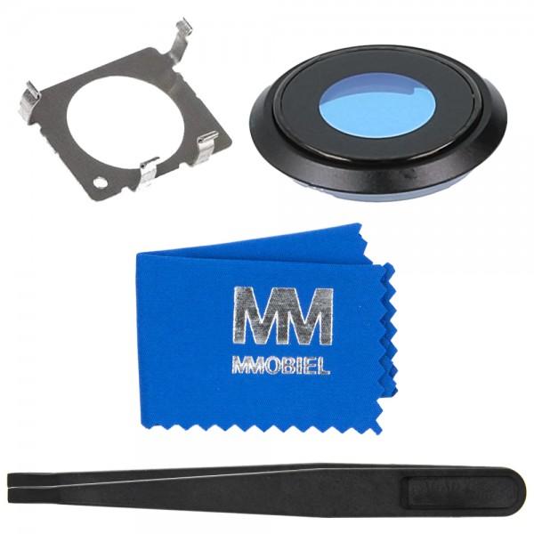 MMOBIEL Glas Lens Back Camera voor iPhone 8 (ZWART) - inclusief Pincet en Doekje