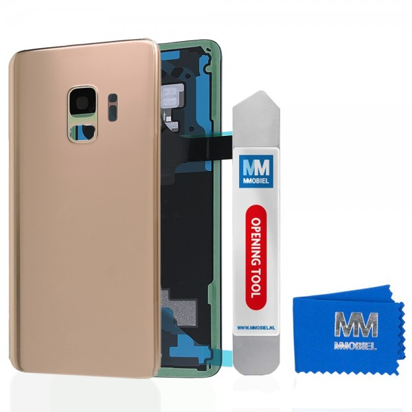MMOBIEL Back Cover incl. Lens voor Samsung Galaxy S9 G960 (GOUD)