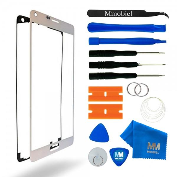 Front Glas Reparatur Set für Samsung Galaxy Note 4 (WEIß) Display+Werkzeug