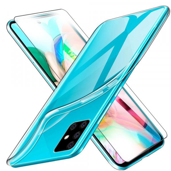 MMOBIEL Screenprotector en Siliconen TPU Beschermhoes voor Samsung Galaxy A71 A715 2020 - 6.7 inch