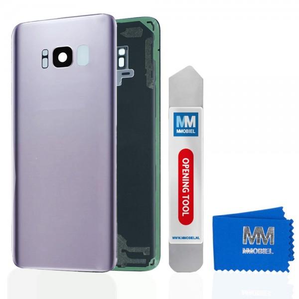 Akkudeckel mit Linse für Samsung Galaxy S8 G950 (GRAU / GREY) Backcover