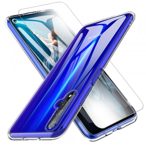 MMOBIEL Screenprotector en Siliconen TPU Beschermhoes voor Huawei Nova 5T - 6.26 inch 2019