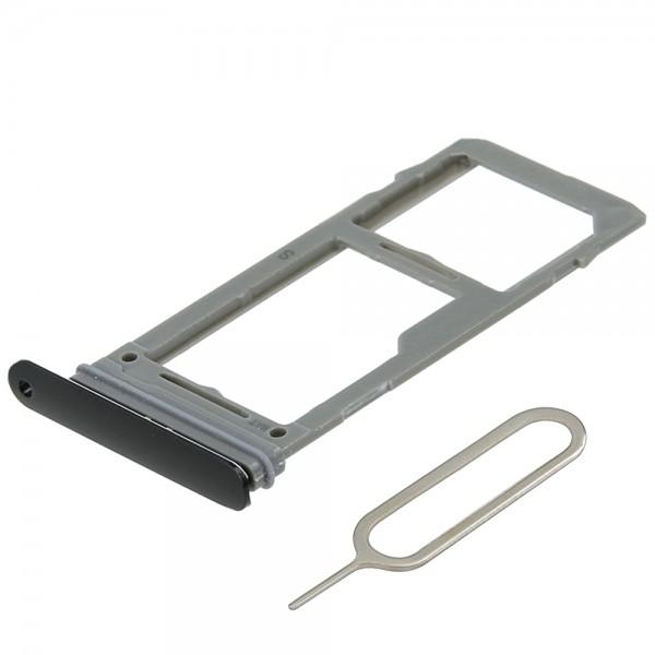 SIM / SD Karte Schlitten Tray für Samsung Galaxy S9 / Plus (SCHWARZ) inkl. Pin