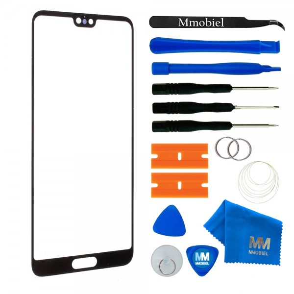 Front Glass for Huawei P20 (Black) Display Touchscreen incl. Toolkit