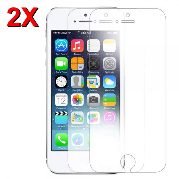 2x Displayschutzfolie Screen Protector Panzerfolie für iPhone 5/5S/5C/SE