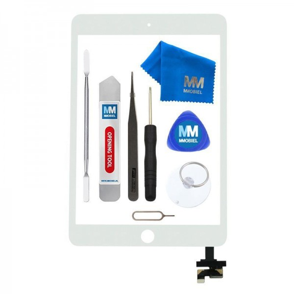 Digitizer für iPad Mini 1 / 2 WEISS 7.9 inch Display Glas + IC Chip + Werkzeug