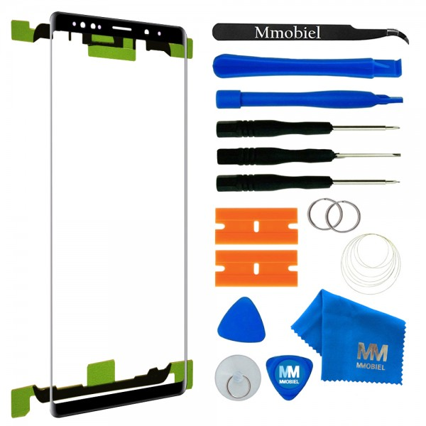 Front Glass for Samsung Galaxy Note 9 N960 6.4 inch (Black) incl. Toolkit