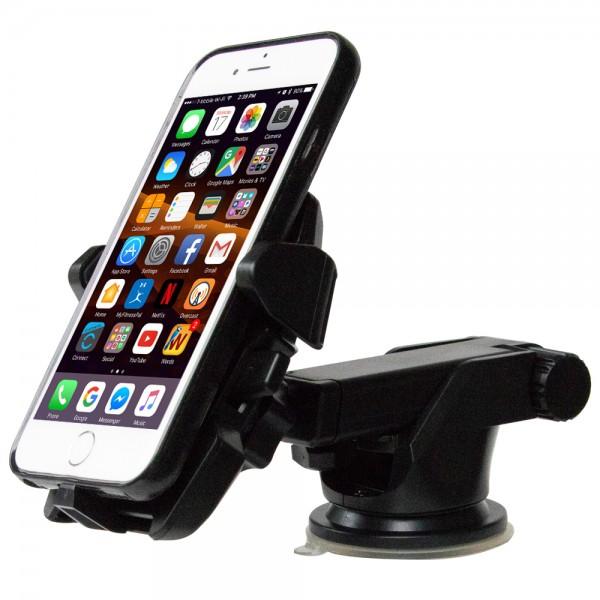 Universelle Smartphone Halterung Auto Kfz für alle Smartphones (SCHWARZ)
