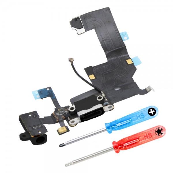Dock Connector for iPhone 5 (Black) Charging Port Flex incl. Screwdriver