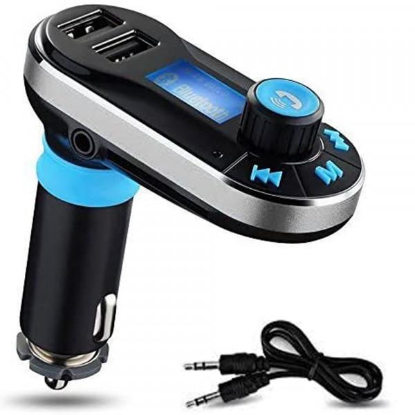 MMOBIEL 5 in 1 Draadloze Bluetooth Carkit / MP3 speler - FM Transmitter - Led Display - Handsfree
