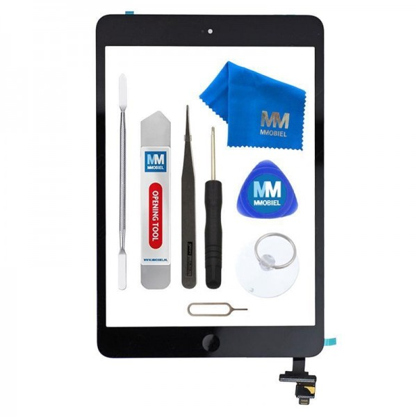 Digitizer for iPad Mini 1 and 2 (Black) Touchscreen Front Display incl. Toolkit