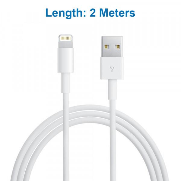Lightning Kabel für iPhone und iPad nach USB Kabel (2 M) Aufladekabel