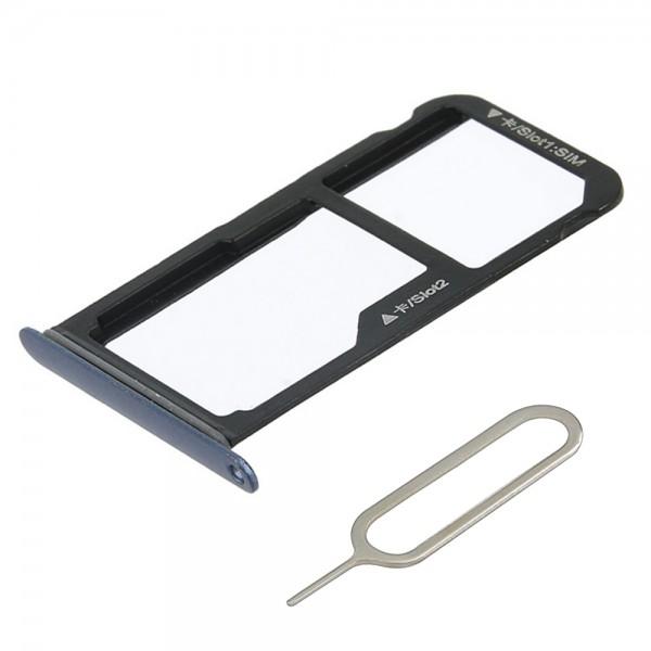 SIM/SD Karte Schlitten Tray für Huawei P10 Lite (SAPPHIRE BLUE) inkl. SIM Pin