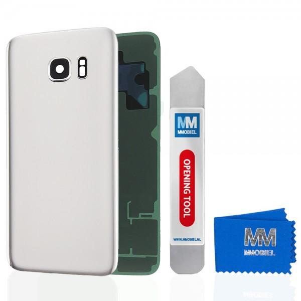Akkudeckel mit Linse für Samsung Galaxy S7 G930 (WEISS) Backcover