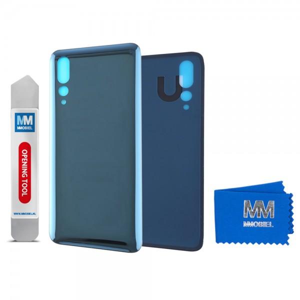 Akkudeckel mit Linse für Huawei P20 Pro 2018 (BLAU) Backcover