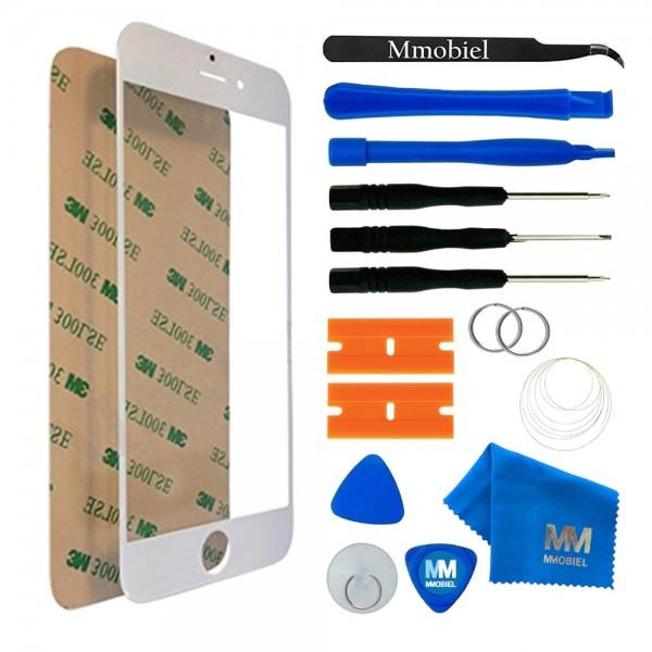 Front Glas Reparatur Set für iPhone 7 Plus (WEISS) Display+Werkzeug