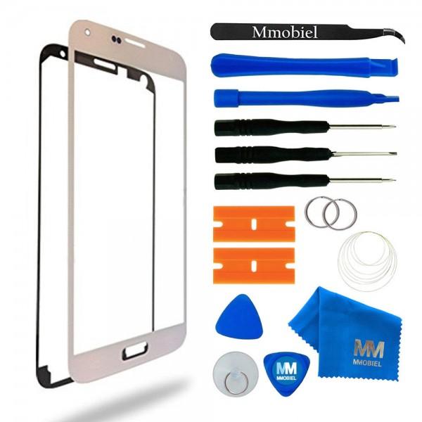 MMOBIEL Front Glas Display Scherm voor Samsung Galaxy S5 (WIT) - inclusief Tools