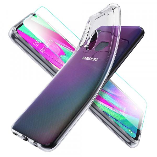 MMOBIEL Screenprotector en Siliconen TPU Beschermhoes voor Samsung Galaxy A40 A405 2019 - 5.9 inch 2019