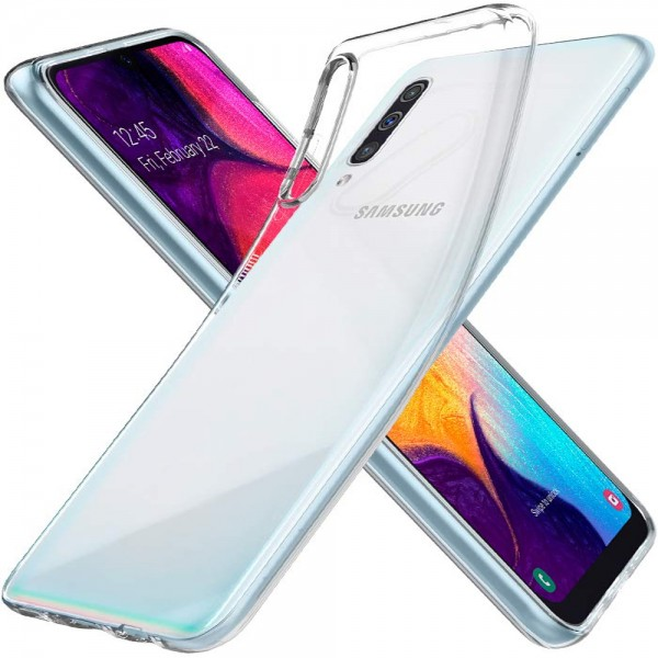 MMOBIEL Screenprotector en Siliconen TPU Beschermhoes voor Samsung Galaxy A50 A505 2019 - 6.4 inch
