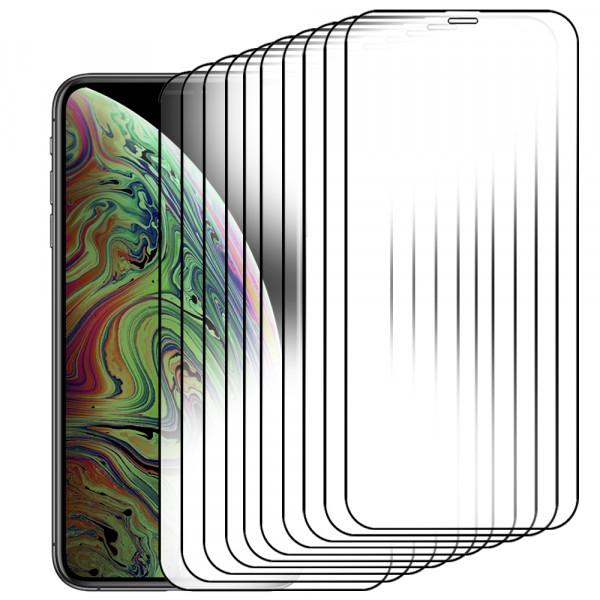 MMOBIEL 10 stuks Glazen Screenprotector voor iPhone 11 Pro Max / XS Max - 6.5 inch - Tempered Gehard Glas - Inclusief Cleaning Set
