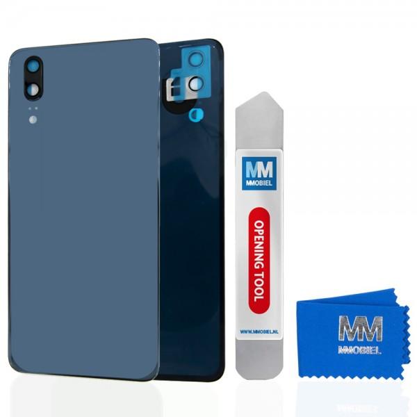 Akkudeckel mit Linse für Huawei P20 2018 (BLAU) Backcover