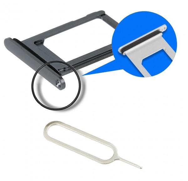 MMOBIEL Sim Tray Kaart Houder Nano Slot voor iPhone XS (SPACE GREY / ZWART)
