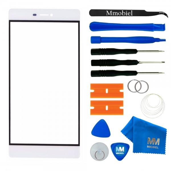 Front Glas Reparatur Set für Huawei P8 (WEISS) Display+Werkzeug