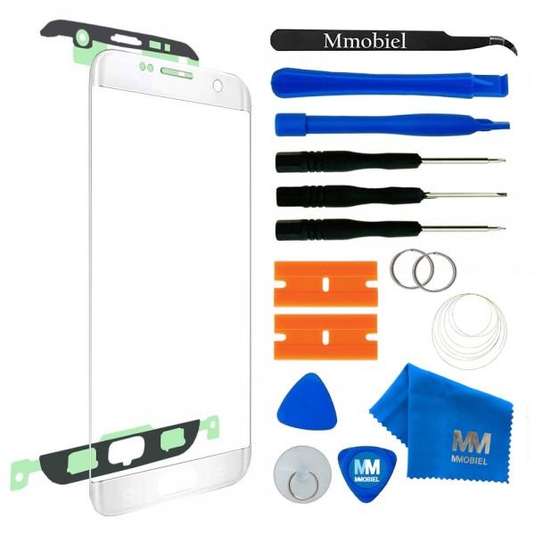 MMOBIEL Front Glas Display Scherm voor Samsung Galaxy S7 Edge (WIT) - inclusief Tools