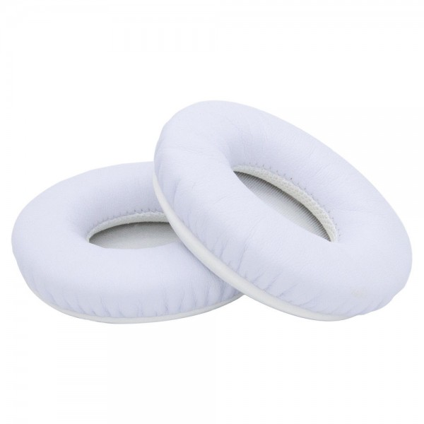 Ear Pads for Beats by Dr. Dre Solo HD 1 with Memory Foam Protein Leather (White)
