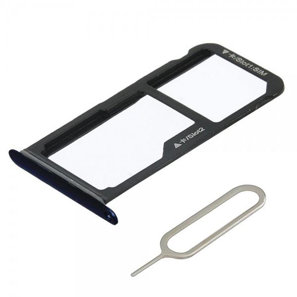 MMOBIEL Sim Tray Kaart Houder Nano Slot voor Huawei P10 Lite (ZWART)