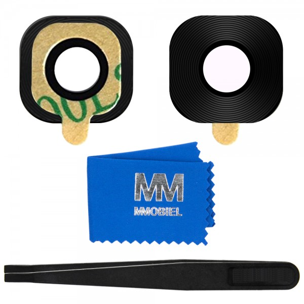 MMOBIEL Glas Lens Back Camera voor Samsung Galaxy A3 A320 / A5 A520 / A7 A720- 2017 (ZWART) - inclusief Pincet en Doekje