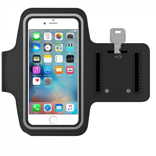 Sportarmband für iPhone 11 Pro / XS / X / 8 / 7 / 6S / 6 (SCHWARZ)
