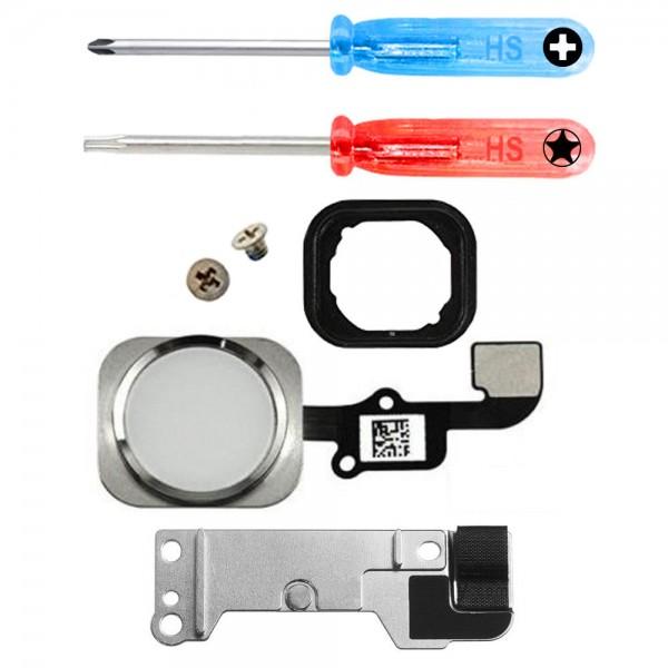 MMOBIEL Home Button voor iPhone 6S / 6S Plus (WIT) - inclusief Reparatie Tools