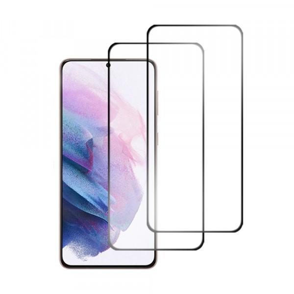 MMOBIEL 2-Pack Displayschutzfolie aus gehärtetem Glas für Samsung Galaxy S21 Ultra 5G SM-G998 6.8 inch 2020 - Panzerglas – Temperglas - Inklusive Reinigungsset