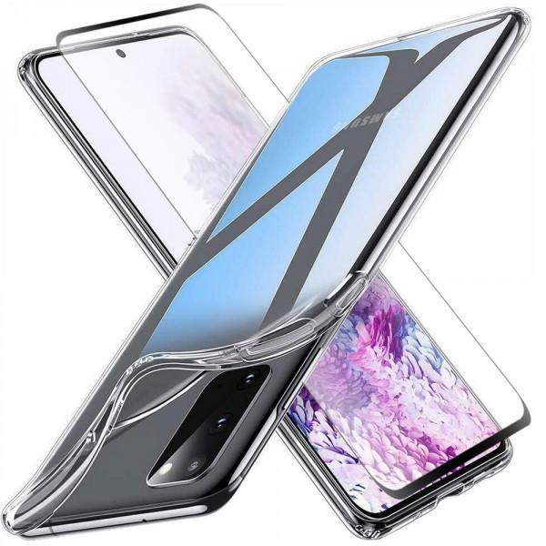 MMOBIEL Screenprotector en Siliconen TPU Beschermhoes voor Samsung Galaxy S20 Ultra - 6.9 inch 2020