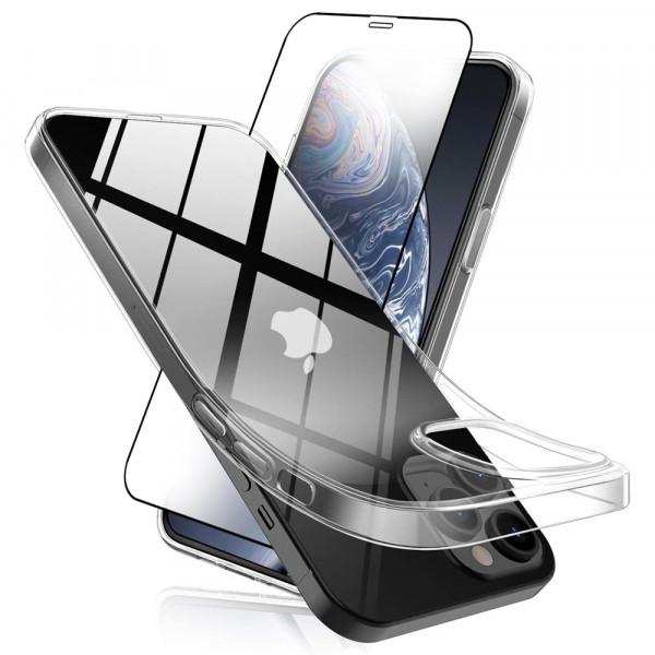 MMOBIEL Screenprotector en Siliconen TPU Beschermhoes voor iPhone 12 Pro Max - 6.7 inch 2020