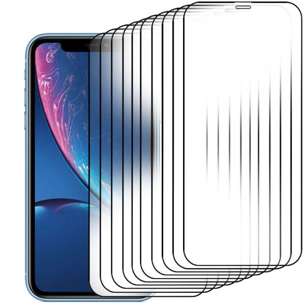 10-Pack Displayschutzfolie aus gehärtetem Glas für iPhone 11 / XR - 6.1 inch - Panzerglas – Temperglas - Inklusive Reinigungsset