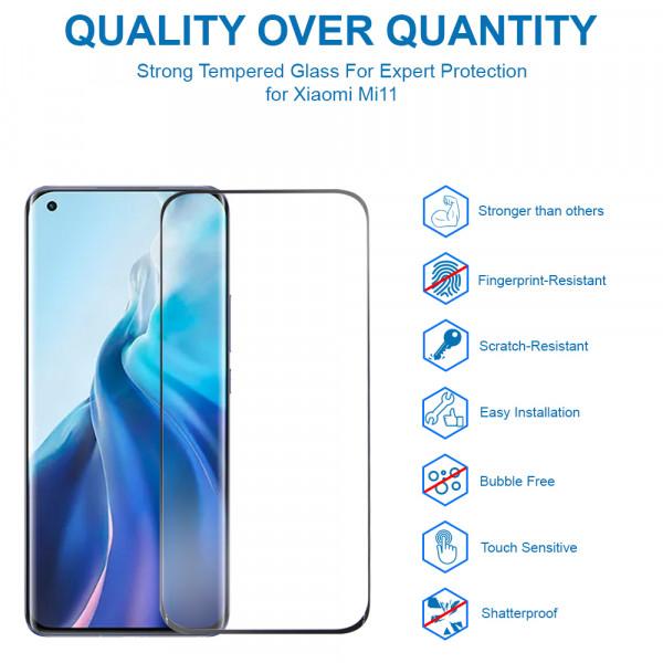 MMOBIEL 2 stuks Glazen Screenprotector voor Xiaomi Mi 11 6.81 inch 2021 - Tempered Gehard Glas - Inclusief Cleaning Set