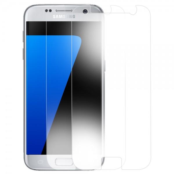 2x Displayschutzfolie Screen Protector Panzerfolie für Samsung Galaxy S7
