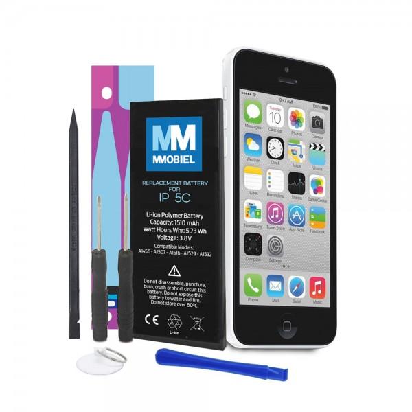 MMOBIEL Akku für iPhone 5C | Batterie mit 0-Ladezyklen + Werkzeug +Anleitung